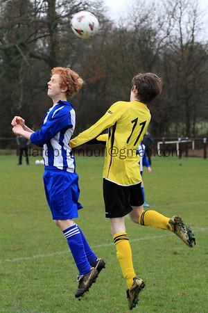 Football Sparrows v Cranleigh U15s 12 02 11