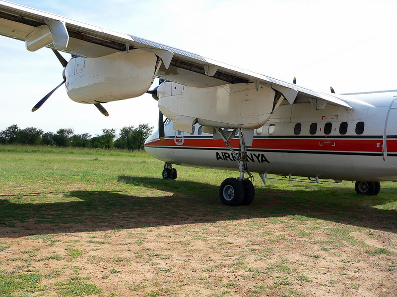 One of two Air Kenya Dash 7's chartered to take some of those WAA 2008 passengers going to Serengeti National Park.