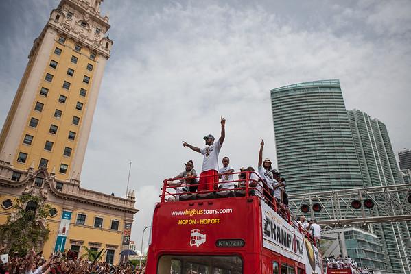 MPD Miami Heat parade 2012