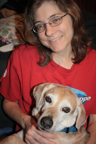 This is Pal and me, just before we had to say goodbye.  He survived 11 years with Epilepsy.