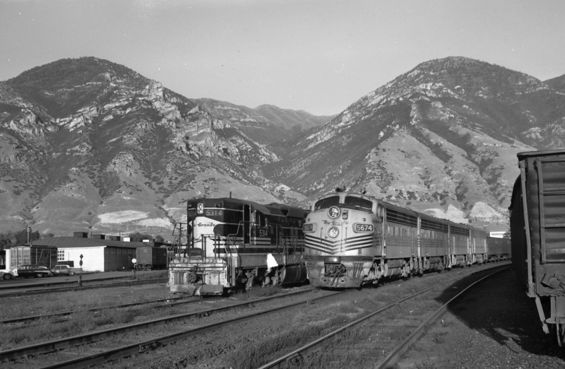 D&RGW passing through Provo. August 27, 1965. (Marvin Black Photo)