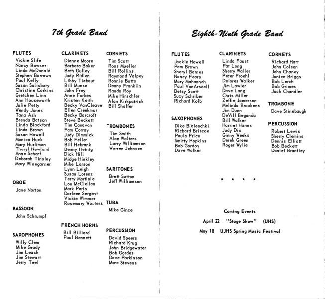 Spring Concert 1961