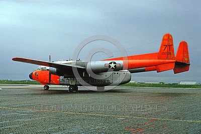 U.S. Marine Corps Fairchild C-119 Flying Boxcar Day-Glow Color Scheme Military Airplane Pictures