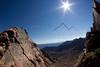 Mark Koelker running a ridgeline in the Gore Range, CO