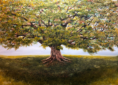 """""""Big Tree"""" (oil on canvas) by Crista Bromley"""
