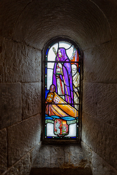 A detail from St Margaret's Chapel; Edinburgh Castle