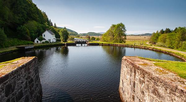 Dunardry Lock 13 on the Crinan Canal
