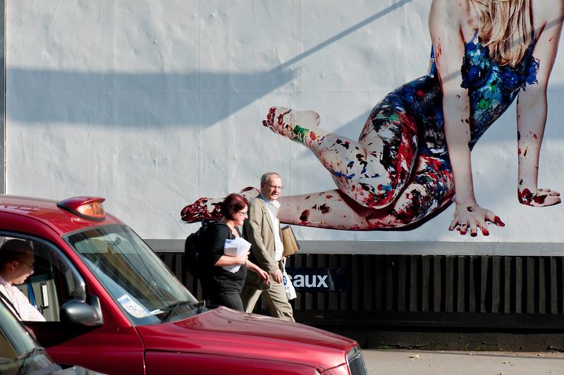 Billboards by Tottenham Court Road, London, United Kingdom