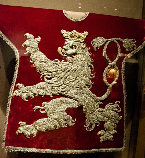 Crest of the Habsburg Empire, done in silver thread