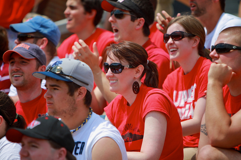 Baseball versus Clemson; GWU hosts first ACC team at John Henry Moss Stadium. Bulldog fans show tremendous support.