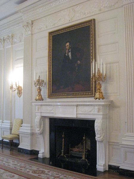 The State Dining Room--portrait of Abraham Lincoln.
