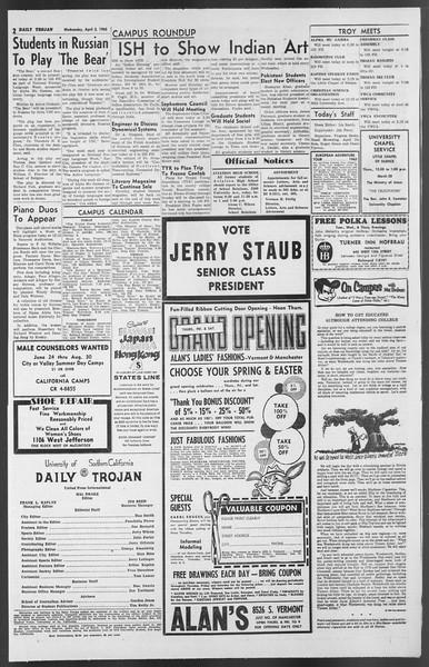 Daily Trojan, Vol. 54, No. 95, April 03, 1963