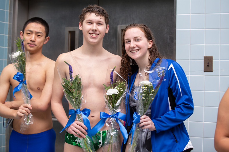 GVHS Swim vs Kennett 2020 Senior Recognition Night
