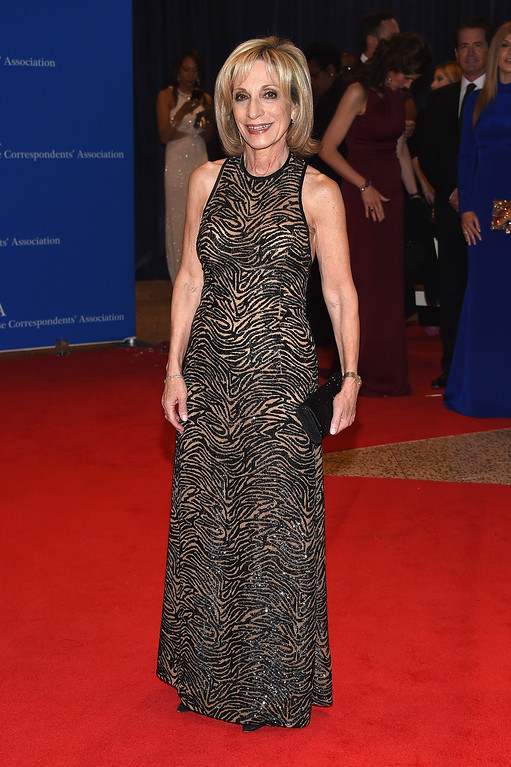. Journalist Andrea Mitchell attends the 102nd White House Correspondents\' Association Dinner on April 30, 2016 in Washington, DC.  (Photo by Larry Busacca/Getty Images)
