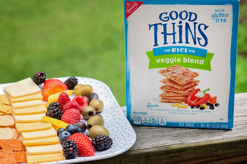 kid friendly and gluten free snack platter with GOOD THiNS