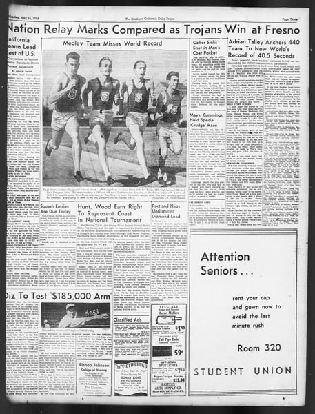 Daily Trojan, Vol. 29, No. 137, May 16, 1938