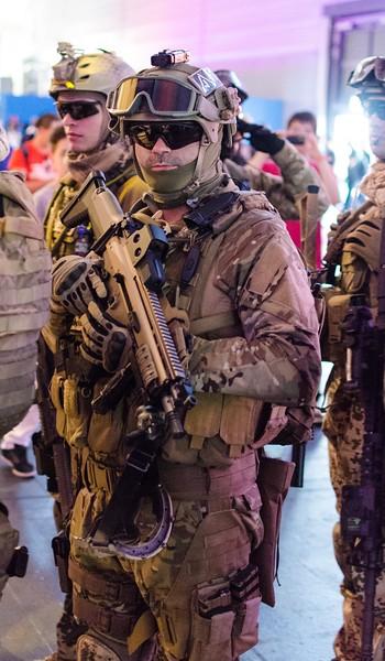Military guy @ Gamescom 2012