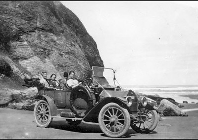 Oregon, Beach, 1914