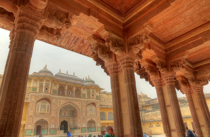Ganesh Gate as viewed from Diwan-i-Aam (Public Audience Hall) - Amer Fort, Jaipur