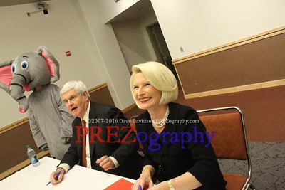 Newt Gingrich book signing with Calista