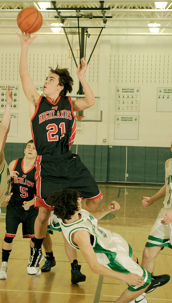 01-15-2010 HS Boys Basketball Northern Highlands (52) at Pascack Valley (46)