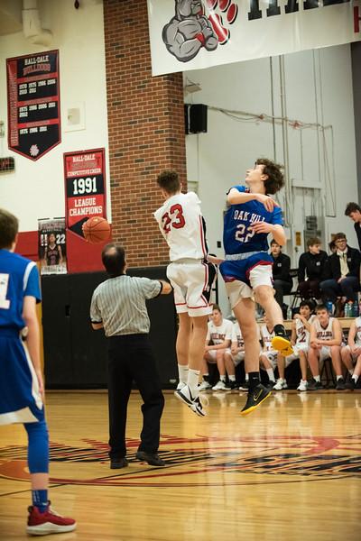 2020 JV Boys Basketball:  Hall-Dale vs Oak Hill