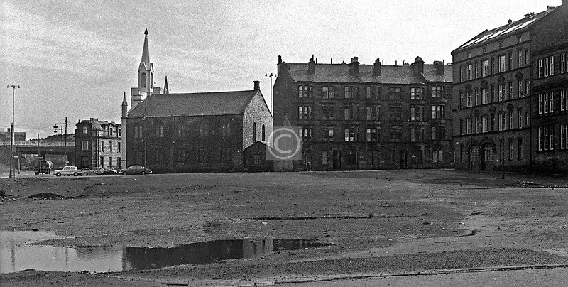 The Martyrs' Church and Martyr St, from what had been Glebe St.    March 1973