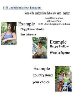 Senior Pictures Pricing and Information