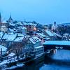 Winter Evening on Baden, Switzerland