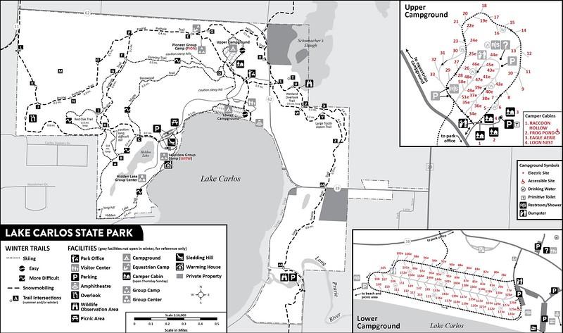 Lake Carlos State Park (Winter Map)