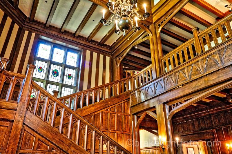 Hatley Castle Stairway