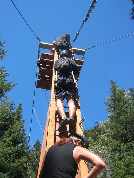 Opening Test. Via ferrata du Diable, park national du Mont-Tremblant