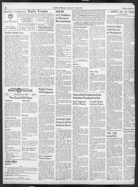 Daily Trojan, Vol. 32, No. 106, March 21, 1941
