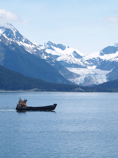 """Eagle Glacier near Juneau - going """"out the road"""" north of town"""