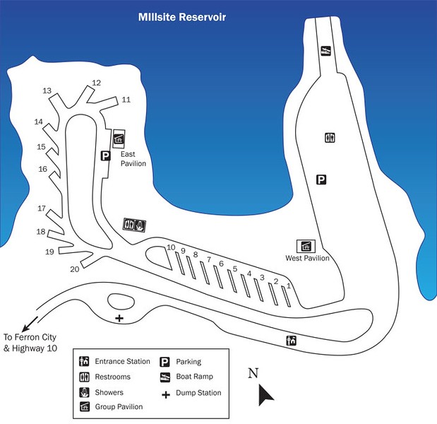 Millsite State Park (Campground Map)