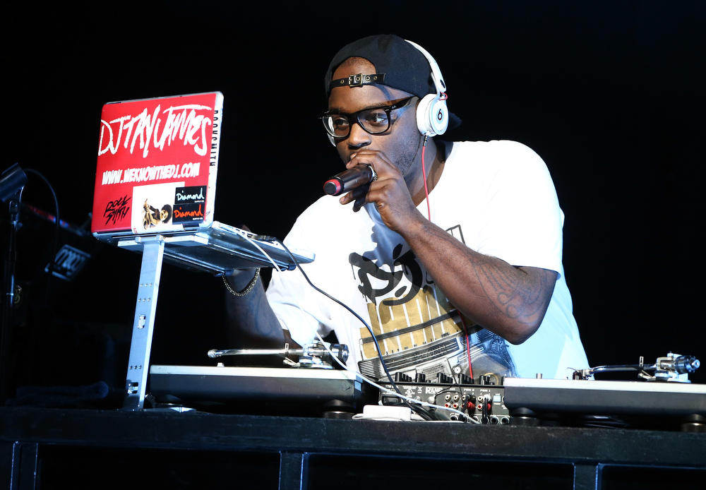 Description of . DJ Tay James performs onstage during KIIS FM's 2012 Jingle Ball at Nokia Theatre L.A. Live on December 3, 2012 in Los Angeles, California.  (Photo by Christopher Polk/Getty Images for Clear Channel)