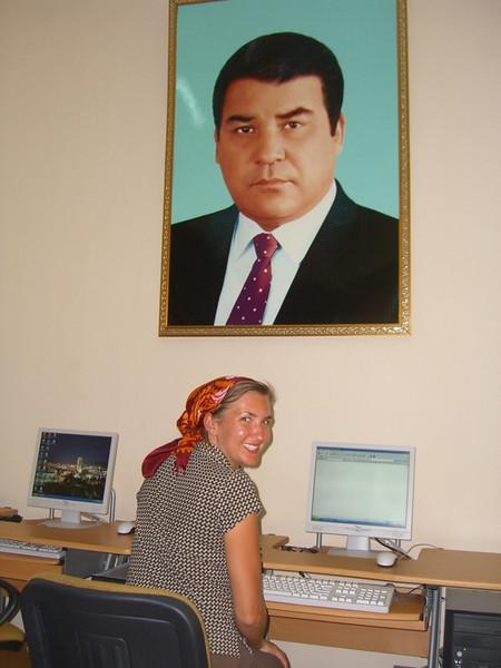 Turkmenbashi Watches in Internet Cafe - Ashgabat, Turkmenistan