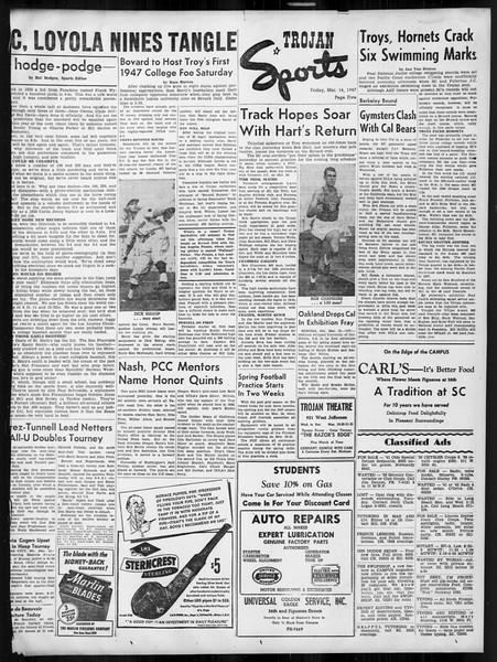 Daily Trojan, Vol. 38, No. 95, March 14, 1947