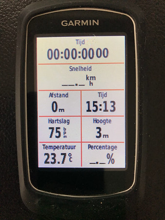 Instellingen Garmin Edge touring plus