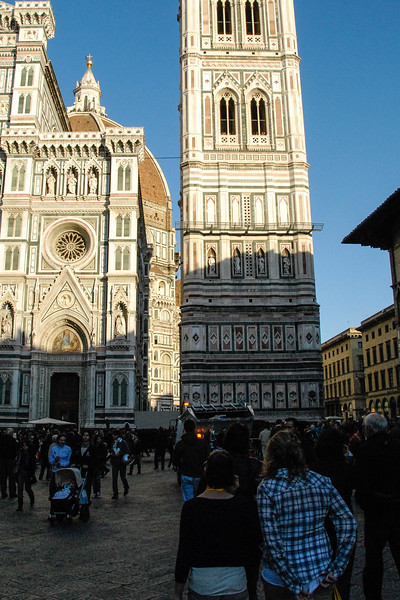Drove from Rome to Florence