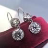 3.07ctw Double Old European Cut Dangle Earrings 13