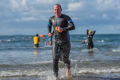 Sandman Triathlon - Swim Exit Orange Hats