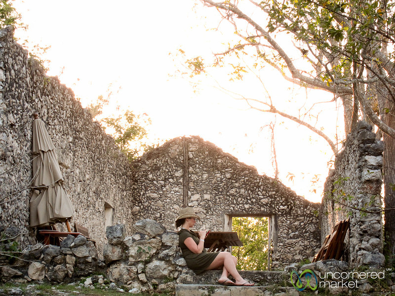 Tweeting at the Hacienda - Yucatan, Mexico