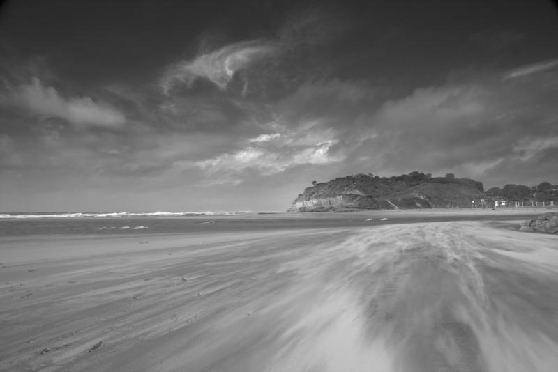 blowing sand, Del Mar CA