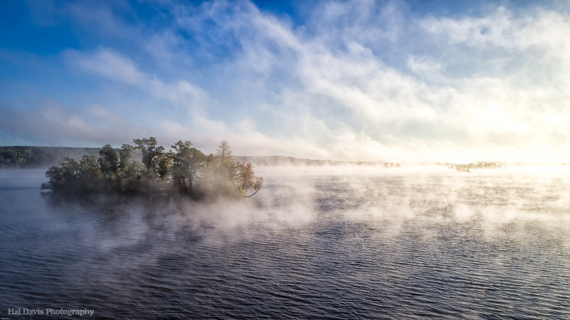 Foggy Lake Eau Claire Sunrise
