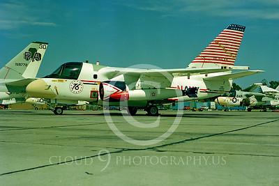 U.S. Navy S-3 Viking Airplanes in Bicentennial Color Scheme