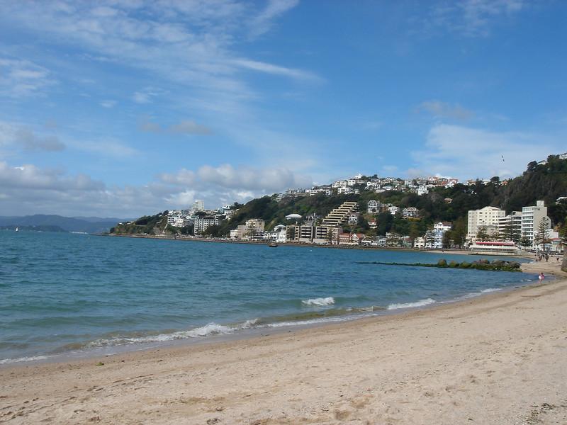 very small beach in Wellington