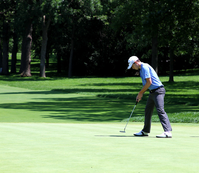 No. 1 world ranked Amateur, Patrick Cantlay, of Los Alamitos, Calif., finishes his second round Wednesday.
