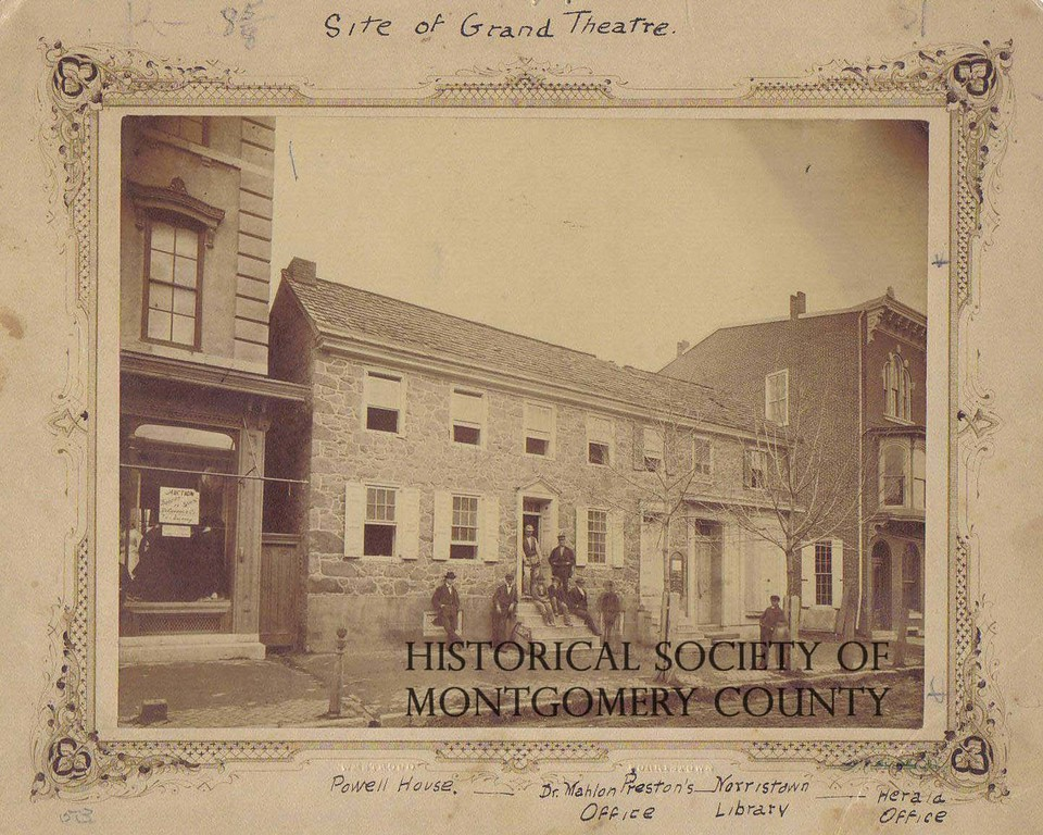 . This photograph from the Historical Society of Montgomery County shows the site of the Grand Theater on East Main Street in Norristown circa 1860. This was also the early Times Herald office. The theater � originally the Grand Opera House � was built here in 1871.