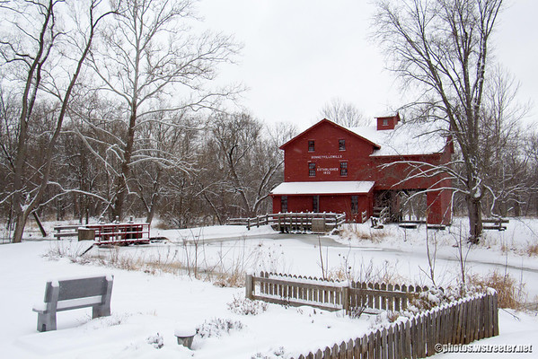Bonneyville Mill Snow 2013